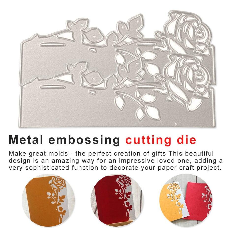 8 IN 1 Metal Leaves Cutting Dies Cut Stencils Scrapbooking Album Embossing DIY