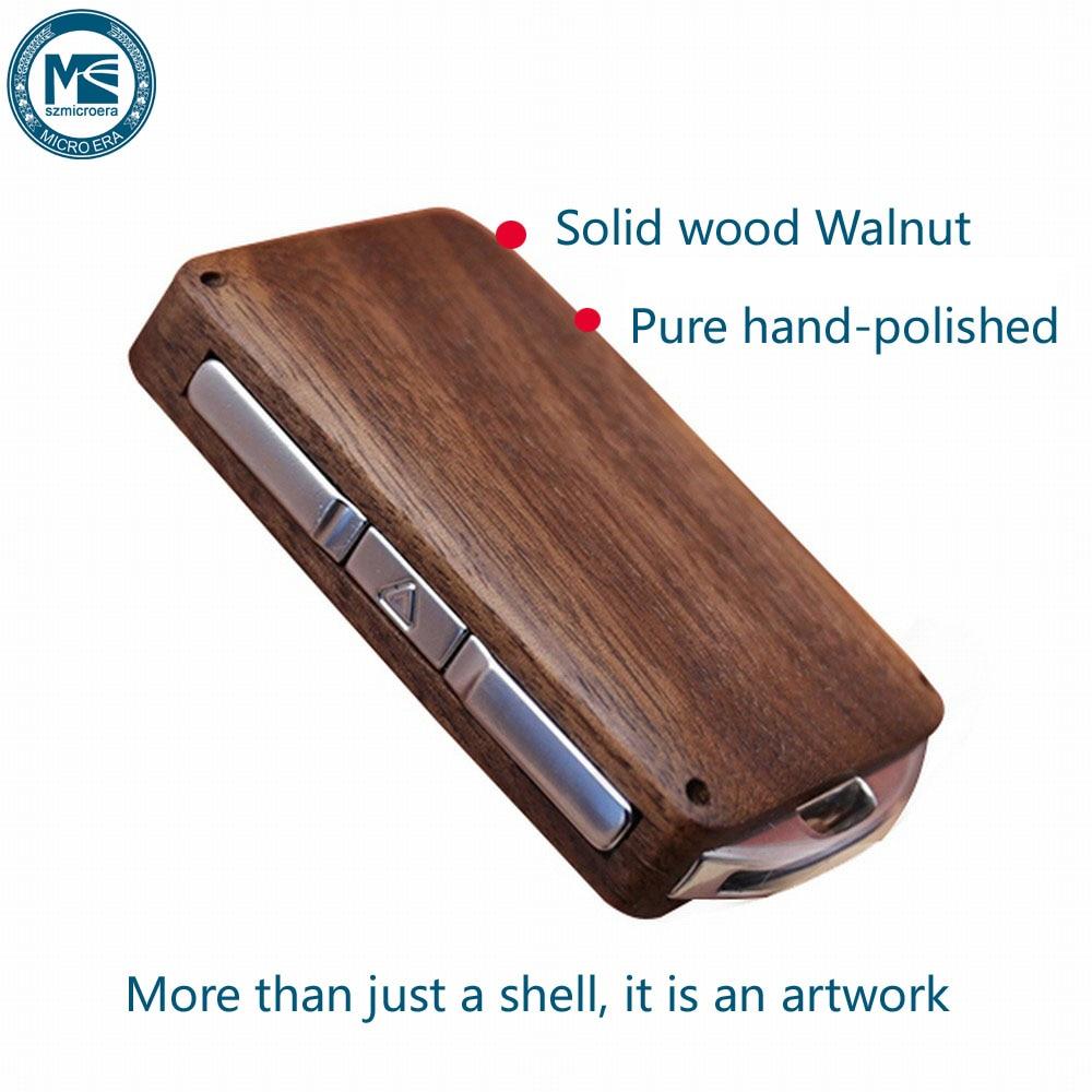 Keyless Entry Remote Control Refit Wooden Car Key Fob