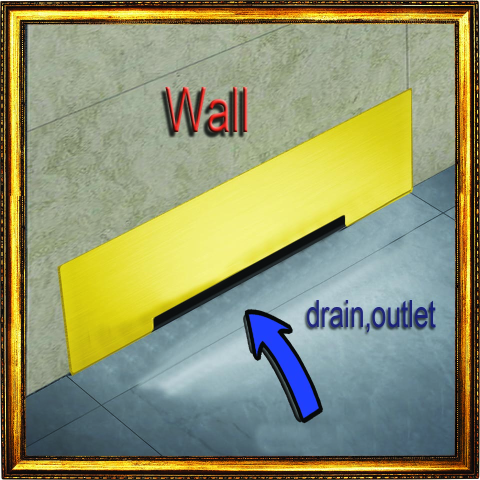 Wall Drainage Large-Traffic Stainless Steel 30cm Bathroom Surface titanium gold Floor Drain Big Flow Rate Refuse Nasty Smell wall drainage large traffic stainless steel 30cm bathroom surface titanium gold floor drain big flow rate refuse nasty smell