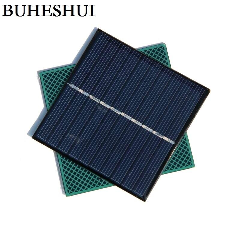 BUHESHUI 5V 0.8W 160MA Polycrystalline Solar Cells Module Epoxy DIY Solar Panel Charger For 3.6V Battery Education 80*80*3MM