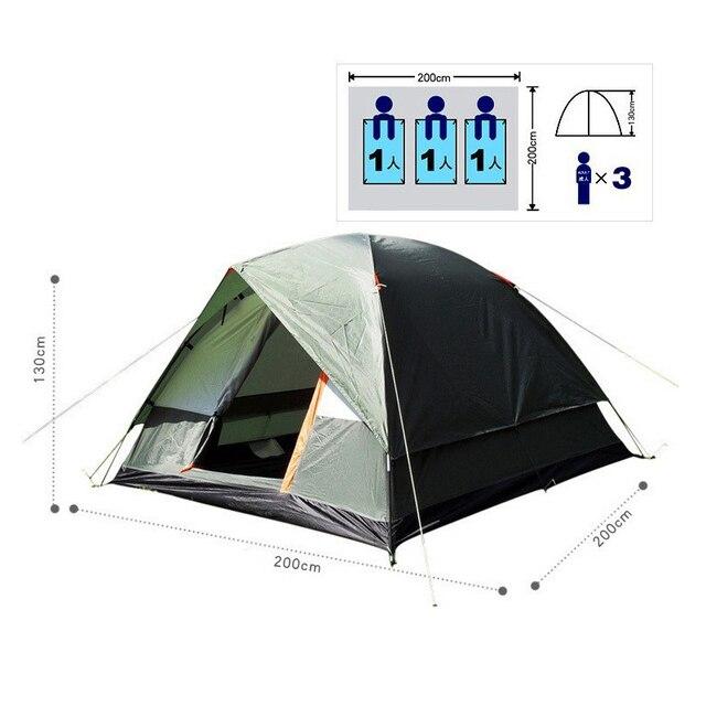 אוהל 4 אנשים 200X200 לנסיעות וקמפינג 2