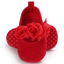 Lovely Toddler Baby Girl Flower Crib Shoes Princess Newborn