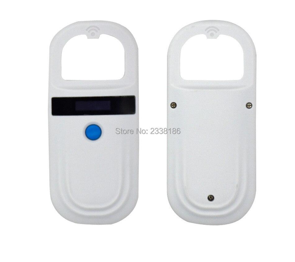 Free shipping WS150 FDX B 134 2KHZ animal microchip reader ID glass tag scanner ear tag