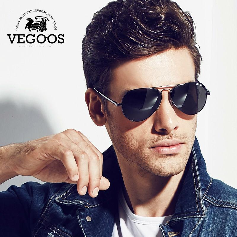 Óculos de Design Tamanho do Quadro Vegoos Polarizados da Marca Homens  Frescos Óculos de Sol uv Proteger Piloto Pilotos Grande l 3025l 8286e0b9dd
