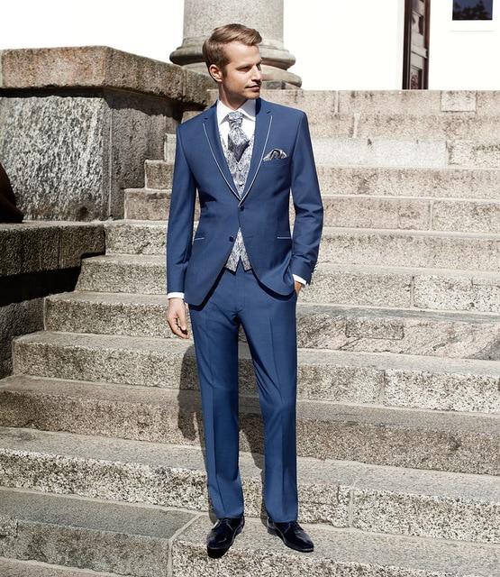 best service e85fc 6d5f2 Bleu-De-Mariage-Costumes-Pour -Hommes-Entaill-Revers-2-Pi-ces-Veste-Pantalon-Cravate-mari-De.jpg