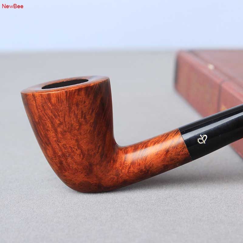 NewBee Churchwarden Pipes Long Stem Imported Briar Wood Tobacco Smoking Pipe 9mm Filter Bent Pipe Accessories
