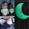 Caliente Instagram luminoso bebé almohada juguetes luna y bombilla de almohadas para los niños cama de peluche de juguete luz cojines de almohada juguete bombilla