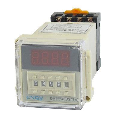 DH48S-11 Power on Time Delay Relay 11-Pin DPDT 0.01S-99H99M AC/DC36V w Socket