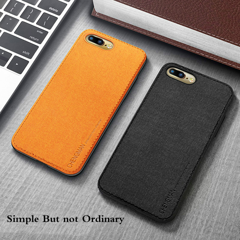 Vintage Ultra Slim Business Fabric Soft Cloth Protect Phone Cases For iPhone 2