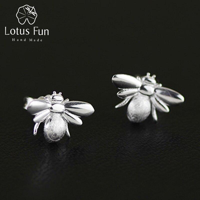 Lotus Fun Real 925 Sterling zilveren oorbel Natuurlijke originele - Fijne sieraden