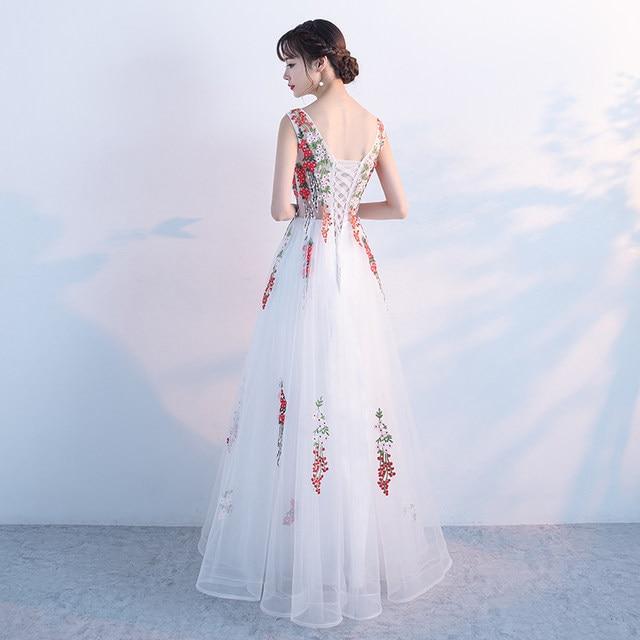 Online Shop Elegant Tulle White Evening Dresses Long 2018 Luxury ...