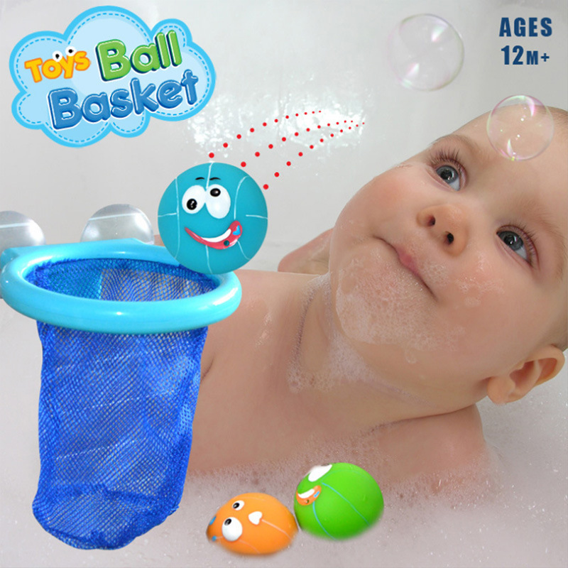 Basketball Shooting Toy Bathroom Bath Toy for Kids with Net Spray ...
