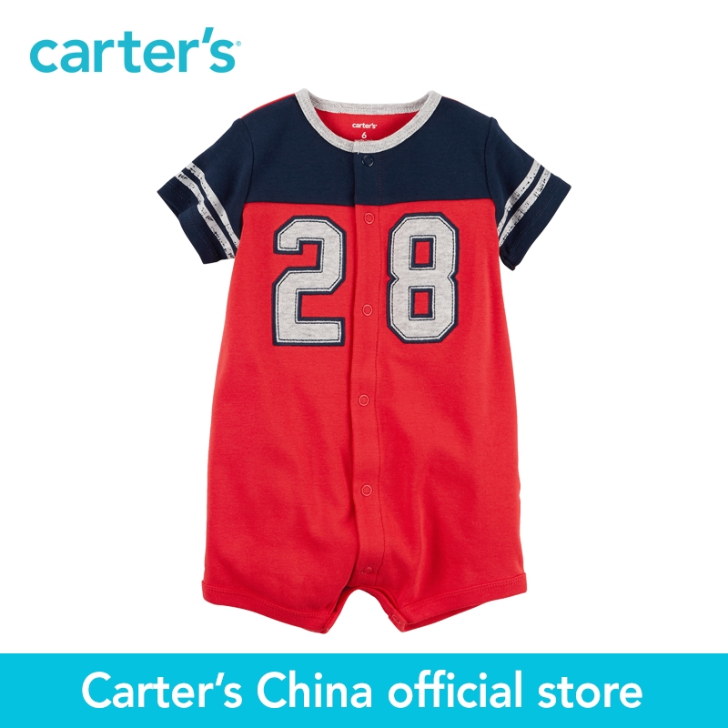 Carter's 1pcs baby children kids Snap-Up Cotton Romper 118H080,sold by Carter's China official store  carter s 1 pcs baby children kids long sleeve embroidered lace tee 253g688 sold by carter s china official store