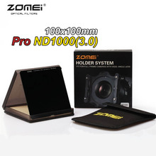 Zomei 100mm ND1000 Square Filter HD Optical Glass 100x100mm 10-Stop Neutral Density ND 1000 For Cokin Z Lee Hitech 100mm Holder