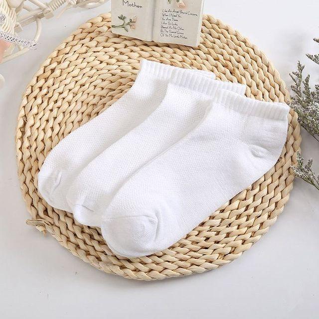 Men Cotton Short Socks Breathable Ankle Low Cut White Black Socks