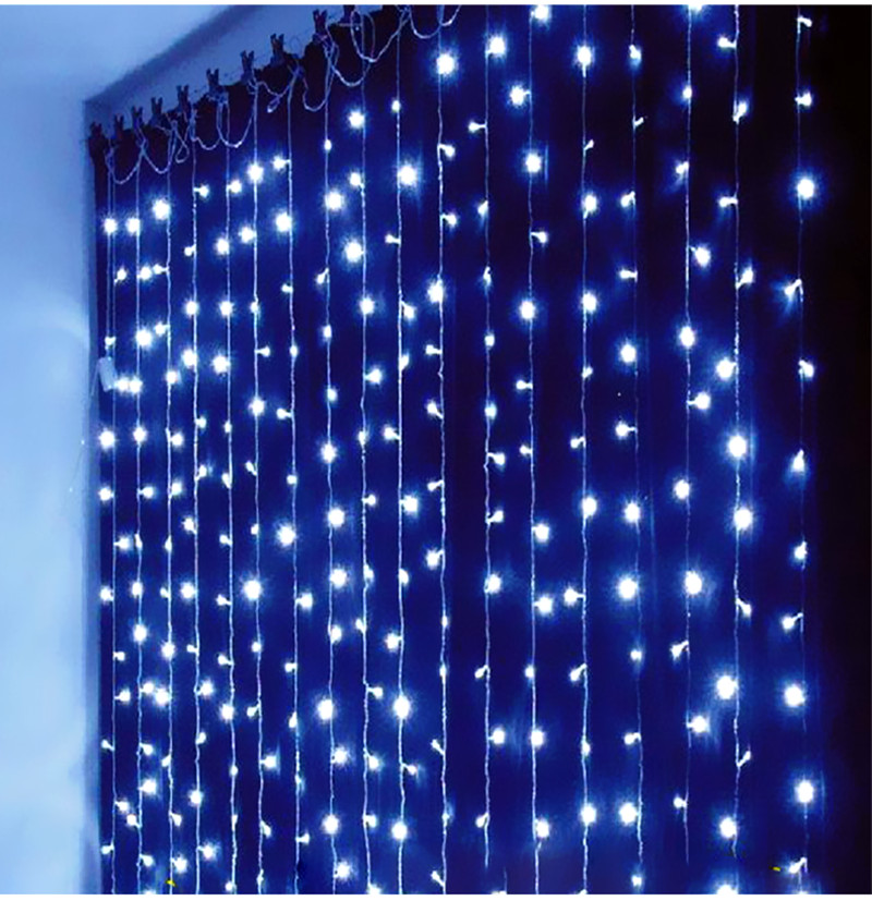 led string curtain light 63m 600 led waterfall christmas decoration dripping icicle lights cortina - Led Dripping Icicle Christmas Lights
