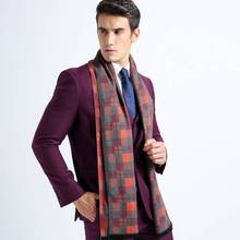 Winter Autumn font b Tartan b font Simple Foulard Men Business Scarf Cotton Casual Plaid Bufandas