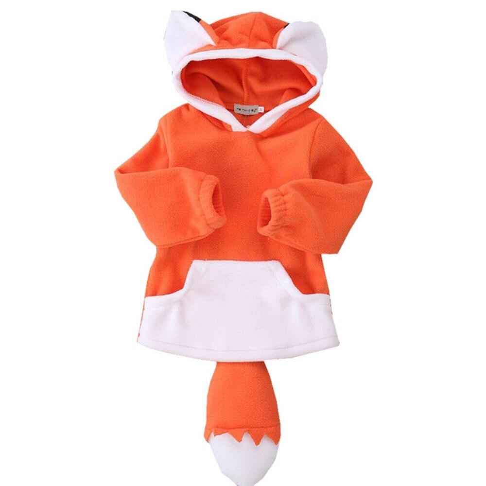 billiger hohes Ansehen 2019 authentisch US $10.94 43% OFF|Baby Warm Fox Jacke Kinder Mantel Hoodie Jacke Pullover  Mädchen Jungen Pullover Outwear Kinder Winter Tops Polar Fleece Hoodie ...
