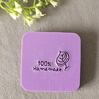 Free Shipping Handmade And LEAF Pattern Mini Diy Soap Stamp Chaprter Seal 4 4cm
