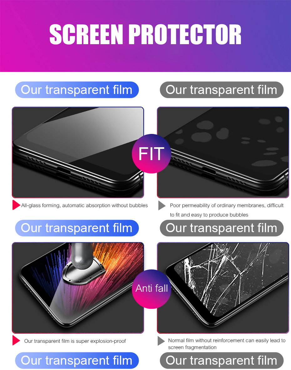 3Pcs Full Cover Tempered Glass For Xiaomi Redmi Note 7 6 5 Pro 5A 6 Screen Protector For Redmi 5 Plus 6A Protective Glass Film 1