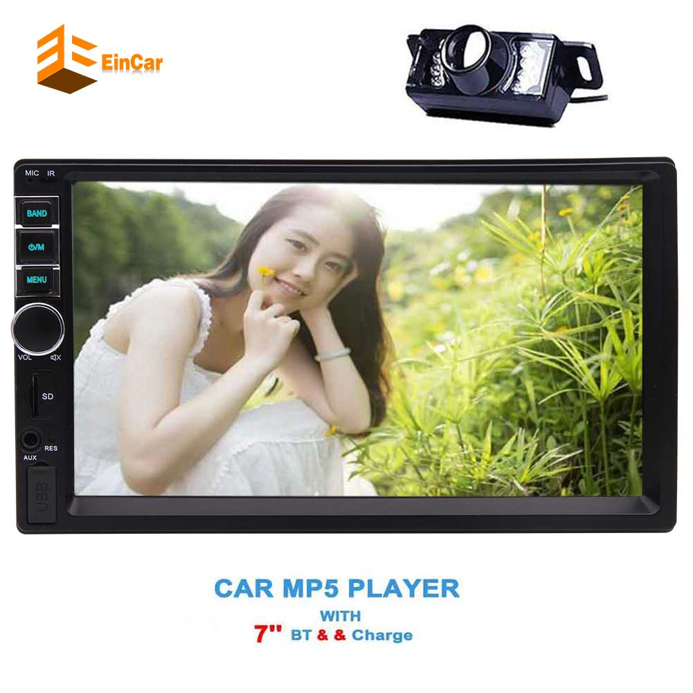 6.2'' For Double 2 DIN Car Stereo no DVD CD  Muti-midia Player MP5 USB SD Bluetooth FM Autorradio Aux-in Rearview Camera 2 din car radio mp5 player universal 7 inch hd bt usb tf fm aux input multimedia radio entertainment with rear view camera