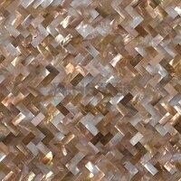 Sea shell naturale pinguino shell mosaico senza soluzione di continuità piastrelle protezione della maglia, 10x20mm, cucina backsplash