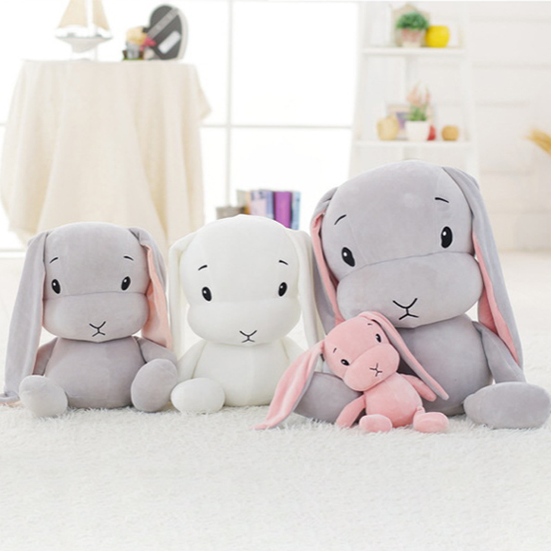 INS Popular Toys Rabbit Plush Soft and Comfortable Stuffed Toys 30/50CM korean Kawaii Plush Sleeping Toy Gift For Children