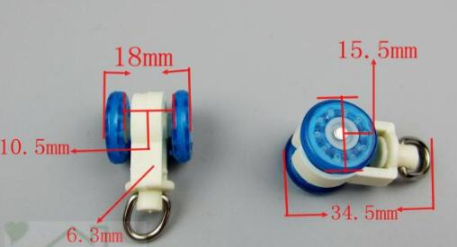 50PCS/Bag Window Rollers Universal Pull Rope Curtain Roller Wheel Pulley