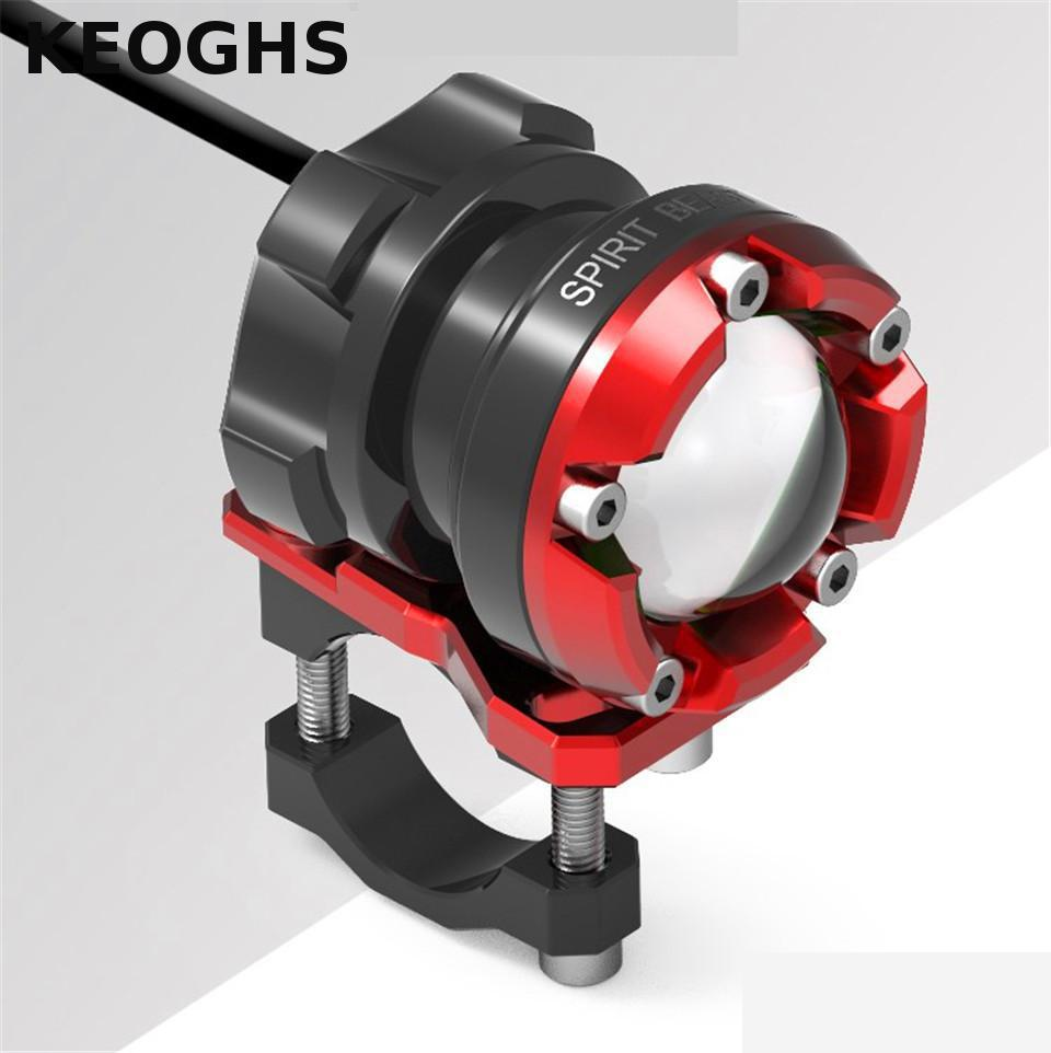 Led Spotlight Headlamp: KEOGHS Motorcycle Headlight Lamp Spotlight Universal Cnc