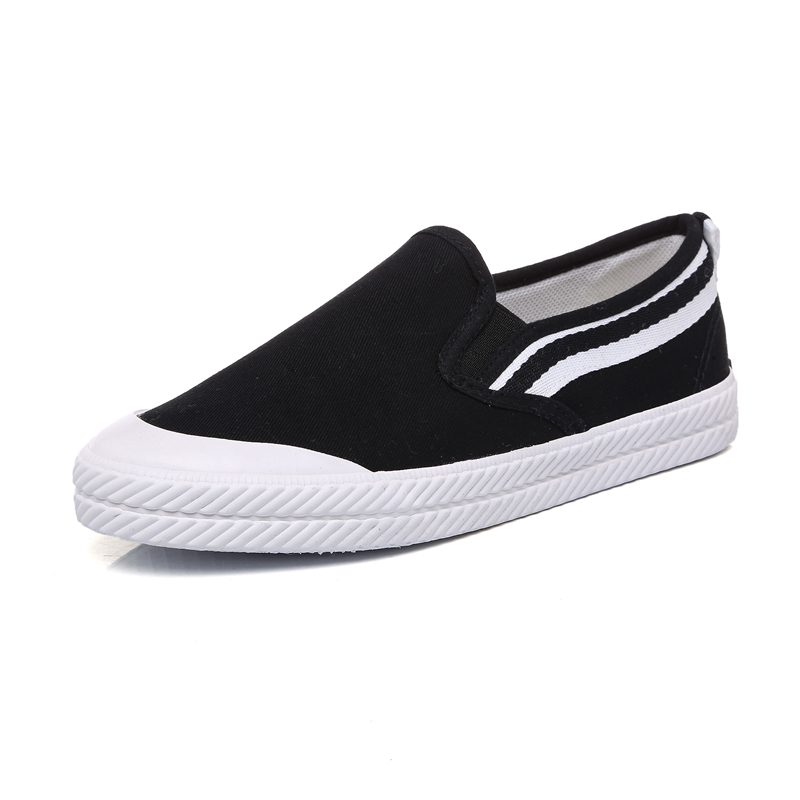 dcff3194cd Aliexpress.com : Buy New 2018 Fashion White Black Casual Canvas Shoes Slip  on Breathable Women's Sneakers Vulcanize Walking Espadrilles Trainers from  ...
