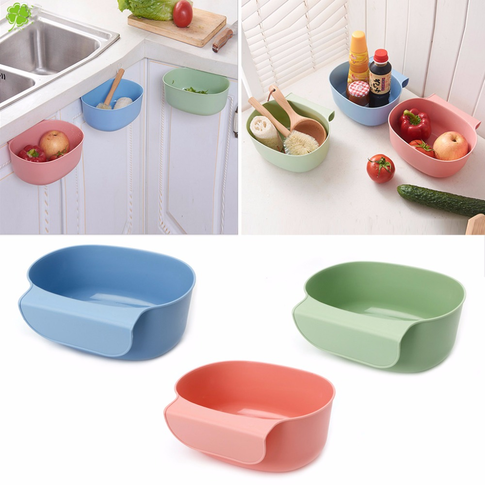 Kitchen Cabinet Door Hanging Trash Garbage Can Bin Rubbish Container Plastic