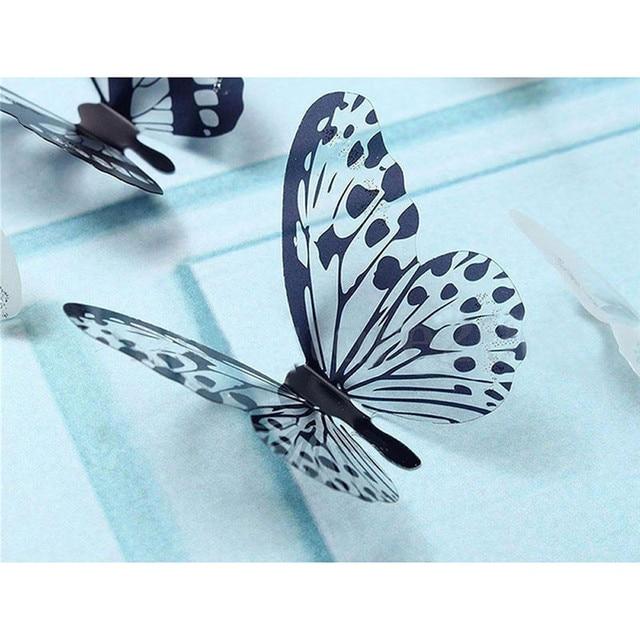 3D Black & Transparent Butterfly Wall Sticker