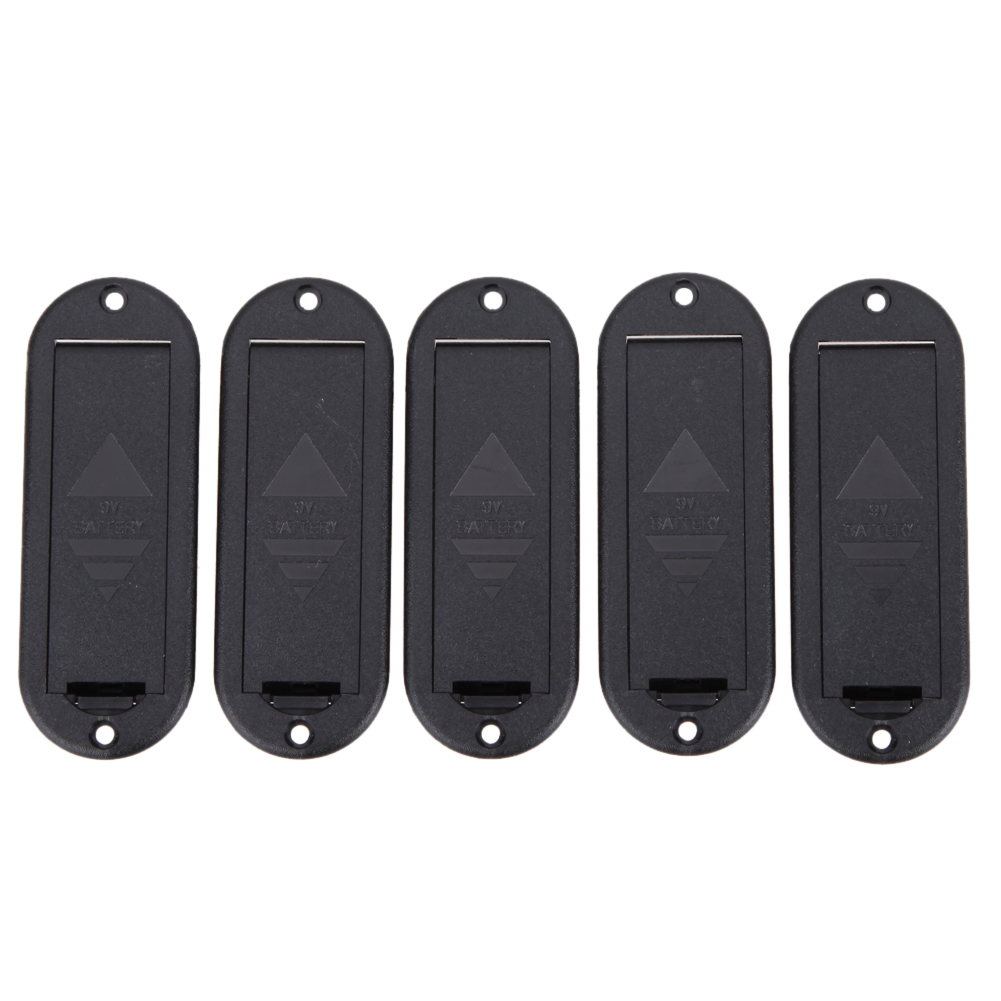 bass pickup active pickups 5pcs 85*32*30mm Flat mounting 9V Battery Case Holder Cover Box for Active Pickup Guitar Accessories belcat bass pickup 5 string humbucker double coil pickup guitar parts accessories black