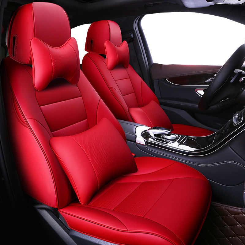 Peau de vache automobiles Auto cuir set housses de siège de voiture pour Volvo S60L V40 V60 S60 XC60 XC90 XC60 C70 s80 s40 voiture style coussin