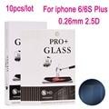 10 unids vidrio templado film protector de pantalla para iphone 6 6 s plus película protectora