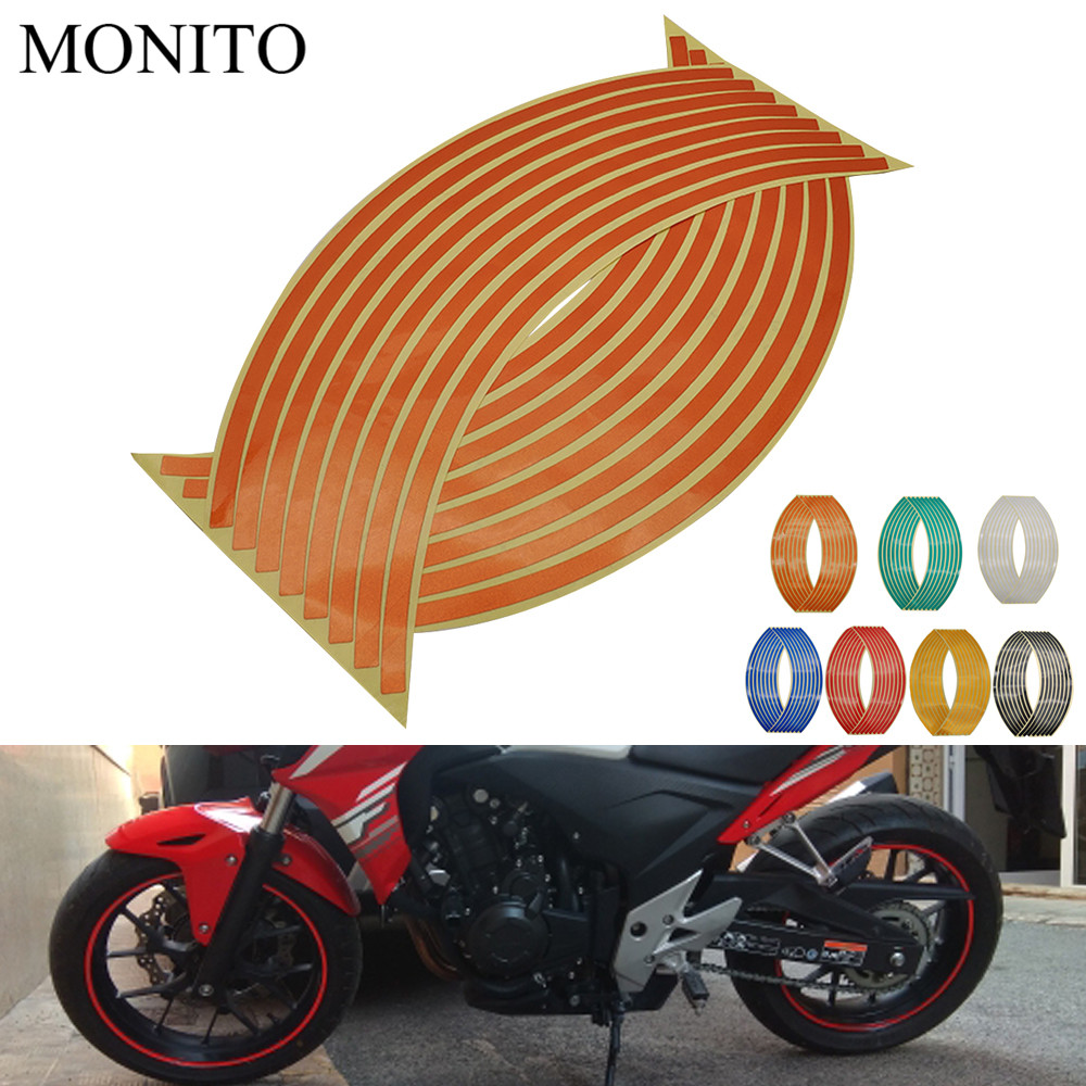 2019 Motorcycle Wheel <font><b>Stickers</b></font> Motocross Reflective Decals Rim Tape Strip For <font><b>BMW</b></font> F R K 650 700 800 <font><b>1200</b></font> 1300 <font><b>GS</b></font> R RS Adventure image