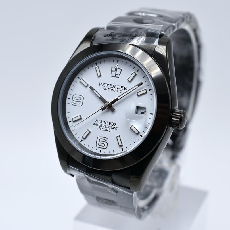 HTB1vyOPaXmWBuNjSspdq6zugXXaQ Silver Watch | Fashion PETER LEE Nautilus | Brand Luxury Full Steel Bracelet Waterproof Automatic Mechanical Business Clocks Classic Dial 38mm Mens Watch