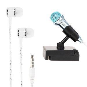 Image 1 - אוזניות אוזניות עבור טלפון כבל עם מיקרופון להקליט קול קריוקי באוזן wired אוזניות עבור טלפון סטריאו מיקרופון