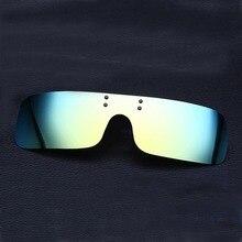 Peekaboo NEUE qualitäts-kühle polarisierte brille clip auf MÄNNER FAHREN gold silber blau mirrored one piece Clip-On polarisierte frauen