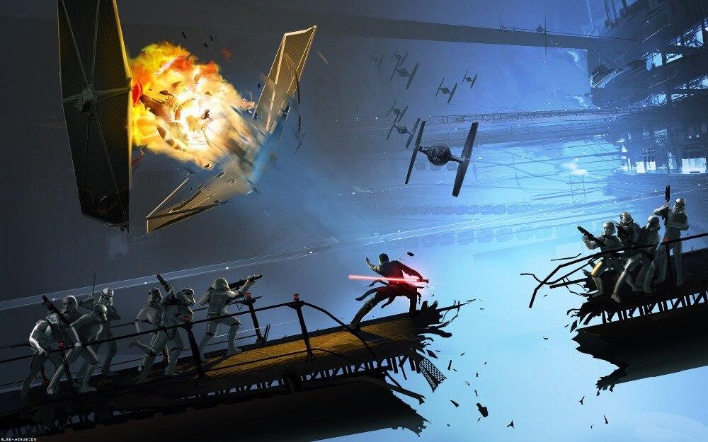 Camera Da Letto Star Wars : Star wars moviefreeshipping personalizzata canvas poster casa di