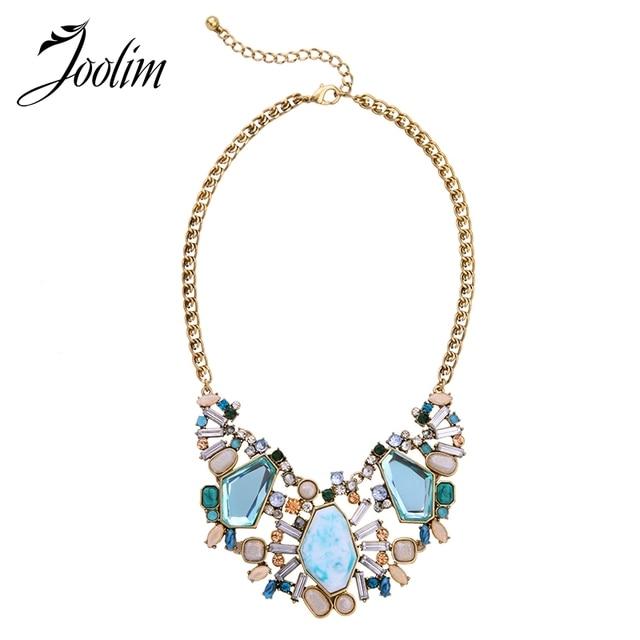JOOLIM Ювелирные Изделия Оптом/Модные Blue Stone Choker Ожерелье Воротник Ожерелье Ювелирные Изделия