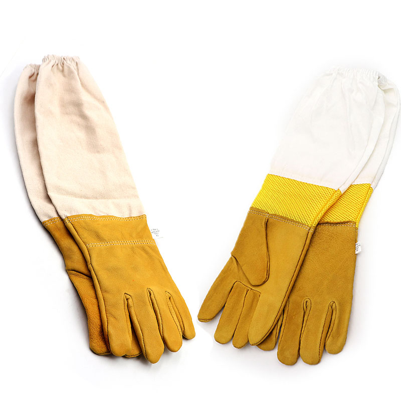 Beekeeping Protective Gloves Sheepskin Bee Gloves Outdoor Beekeeping Equipment Bee Clothing Wholesale