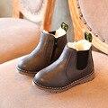 2016 otoño e invierno nuevos niños botas niños botas zapatos niños botas de cuero de Inglaterra