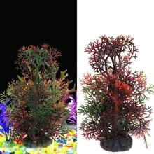 Grama Artificial Aquarium Ornament Pine Tree Water Grass Fish Tank Decoration Background Aquario Plants Christmas Plant