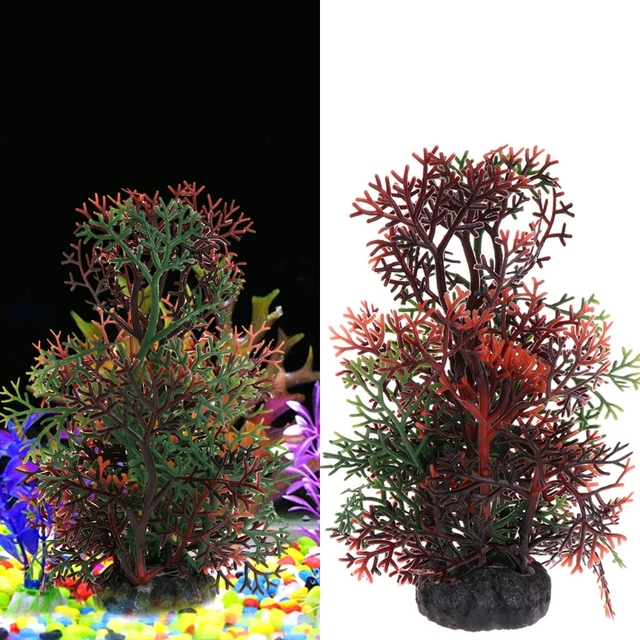 grama artificial aquarium ornament pine tree water grass fish tank decoration aquarium background aquario plants christmas - Christmas Aquarium Decorations