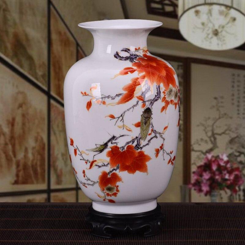 Jingdezhen Ceramic Ornaments Chinese Vases Home Accessories Flower Arrangement Living Room Countertop Decoration Pastel Vase 21