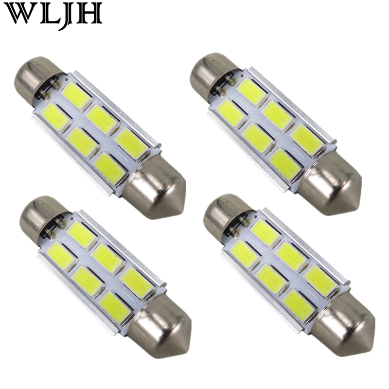 WLJH 4x Car LED Lamp 31mm 36mm 39mm 41mm C5W 5630 SMD 12V ...