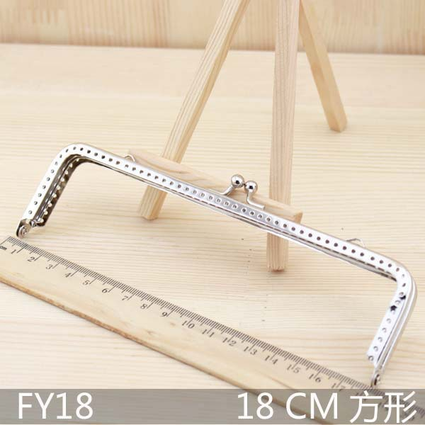 Dropship 18cm 10pcs/lot Metal Purse Frame Handle for Bag hangdbag clasp Sewing Craft Tailor Sewer accessories for bags S0095