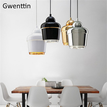 Modern Gold Bell Pendant Lights Nordic Loft Industrial Hanging Lamp for Dining Room Kitchen Home Decor Light Fixtures Luminaire