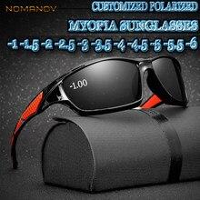 2aca466862 Custom Made Myopia Minus Prescription Polarized Lens full-rim sports  colorful mirror lenses Polarized sunglasses -1 TO-6